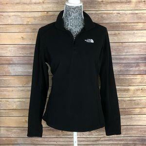 THE NORTH FACE Quarter Zip Fleece Black Sweater